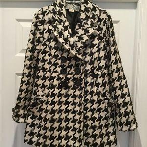 Jolt Houndstooth Pea Coat